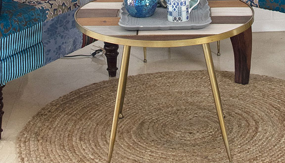 alfombra de yute redonda