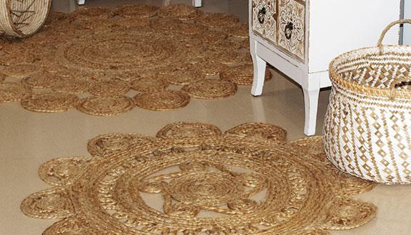 alfombras de yute pequeñas