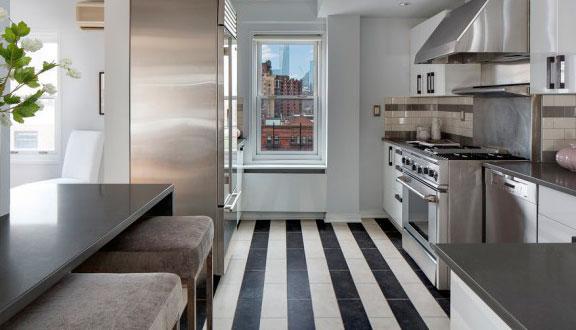 Cocina ático de Julia Roberts en Nueva York