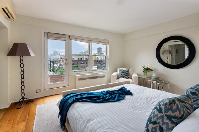 Dormitorio ático de Julia Roberts en Nueva York