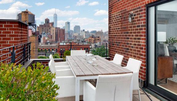 Terraza ático de Julia Roberts en Nueva York