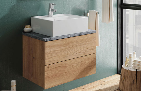 Mueble lavabo colgado pared