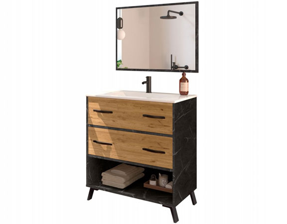 Mueble lavabo industrial Hudson
